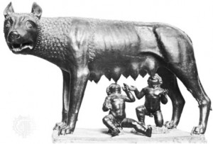 Romulus, Remus, & Ma Wolf
