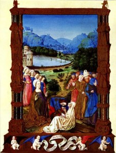 Proving of the True Cross, Jean de Colombe, 1410