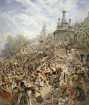 """""""Appeal of Minin"""", Makovsky, 1896"""