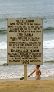 Signs of Apartheid - Durban Beach, 1989