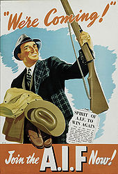 Australia WWII recruitment poster