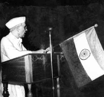 Nehru during his Tryst with Destiny speech