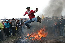 Chaharshanbe Suri (fire-jumping)