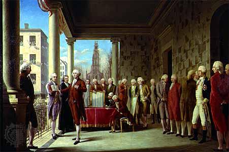 Inauguration of Washington, by Elorriaga