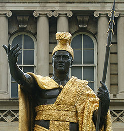 King Kamehameha statue, photo by J. Messerly