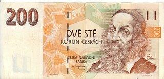 Komensky on the Czech 200 note