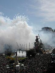 Mascleta, March 2004