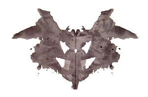 original Rorschach ink-blot, 1920s