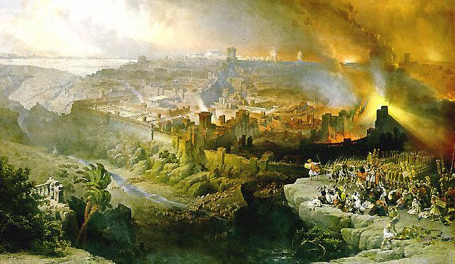 Siege and Destruction of Jerusalem by the Romans - David Roberts