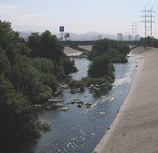 The Los Angeles (Porciuncula) River, not quite as scenic as it once was