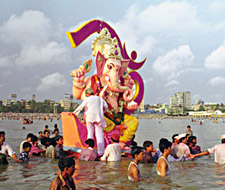 Submersion of Lord Ganesh