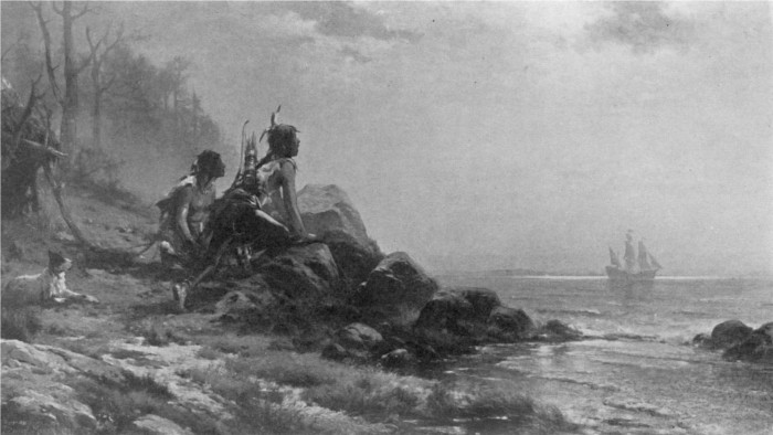 Henry Hudson Entering New York Harbor, September 11, 1609