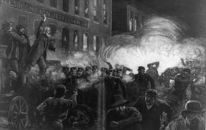 The Anarchist Riot in Chicago, Harpers Bizarre, May 15, 1886