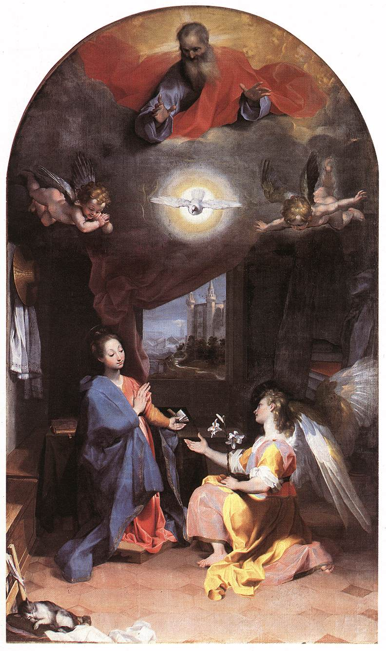 The Annunciation, Barocci, 1590s