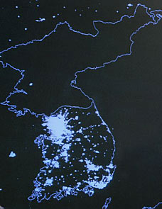 North Korea electricity map