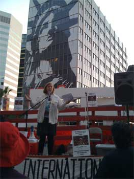 Cindy Sheehan, Women's Day Rally