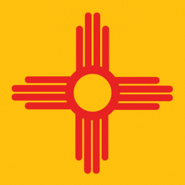 The flag of New Mexico honors the Four Directions